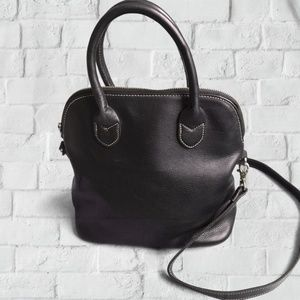 GAP Black Leather Bag with Crossbody Strap